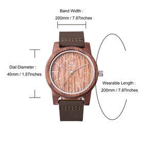 Image 5 - UWOOD Mens Wooden Quartz Wristwatch Minimalism Antique Retro Soft Leather Band Bracelet Husband Bangle Gift Mens Wood Watches