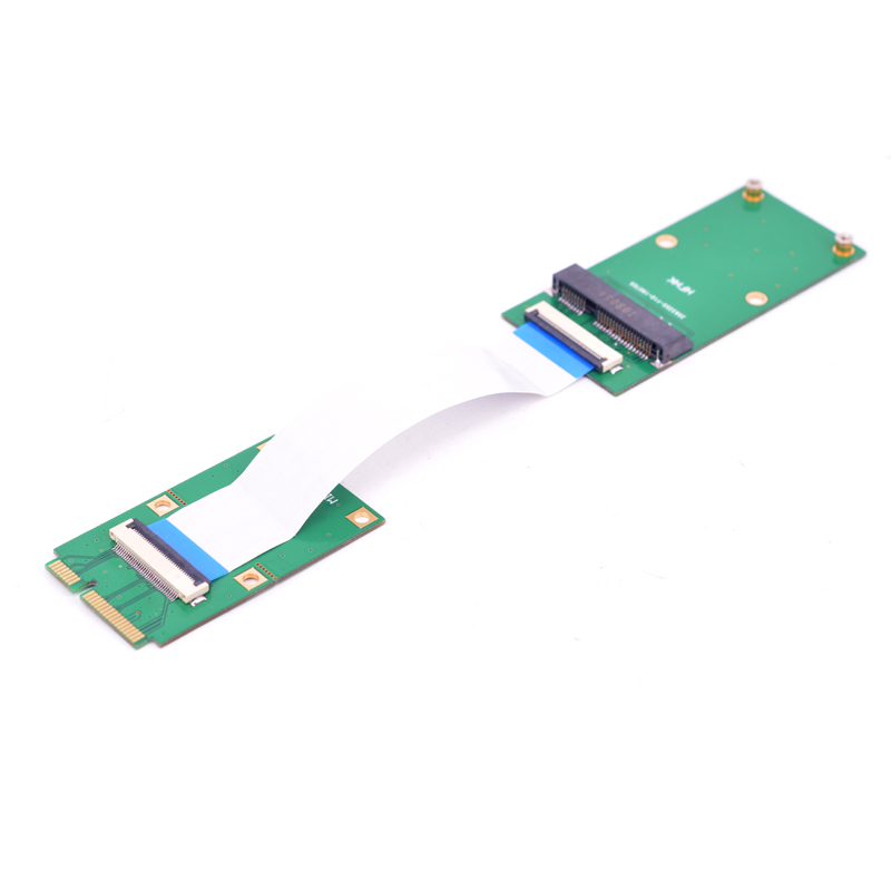Ultra Slim Mini PCIe Male To Female Extension Cable MSATA SSD Slot Half-size To Full Size Card Support Laptop And Desktop