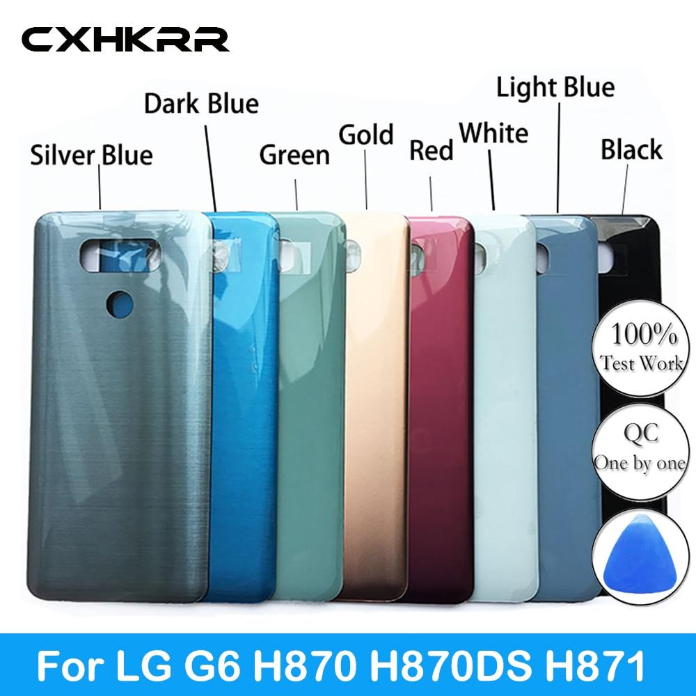 New Glass Battery Cover For LG G6 H870 H870DS H871 H872 H873 LS993 US997 G6 Fit Rear Back Case
