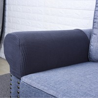 1 Pair Spandex Fabric Removable Arm Stretch Sofa Couch Chair Protector Anti Slip Recliner Couch Arm Covers,