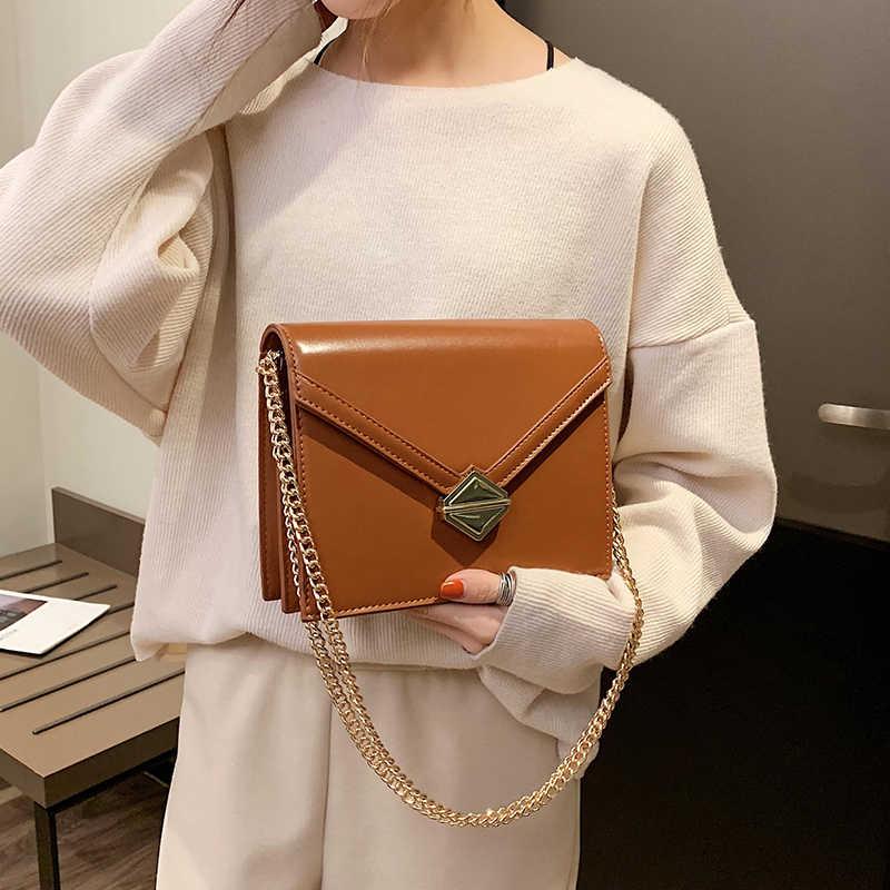 Модные большие сумочки YL в стиле ретро, новинка, Высококачественная женская дизайнерская роскошная сумка из искусственной кожи, сумки-мессенджеры на плечо с цепочкой и замком