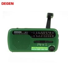 DEGEN DE13 lampe de poche FM soleil réveil Radio peut alimenter votre téléphone, appel à laide adapté pour les aventures sauvages en cas durgence