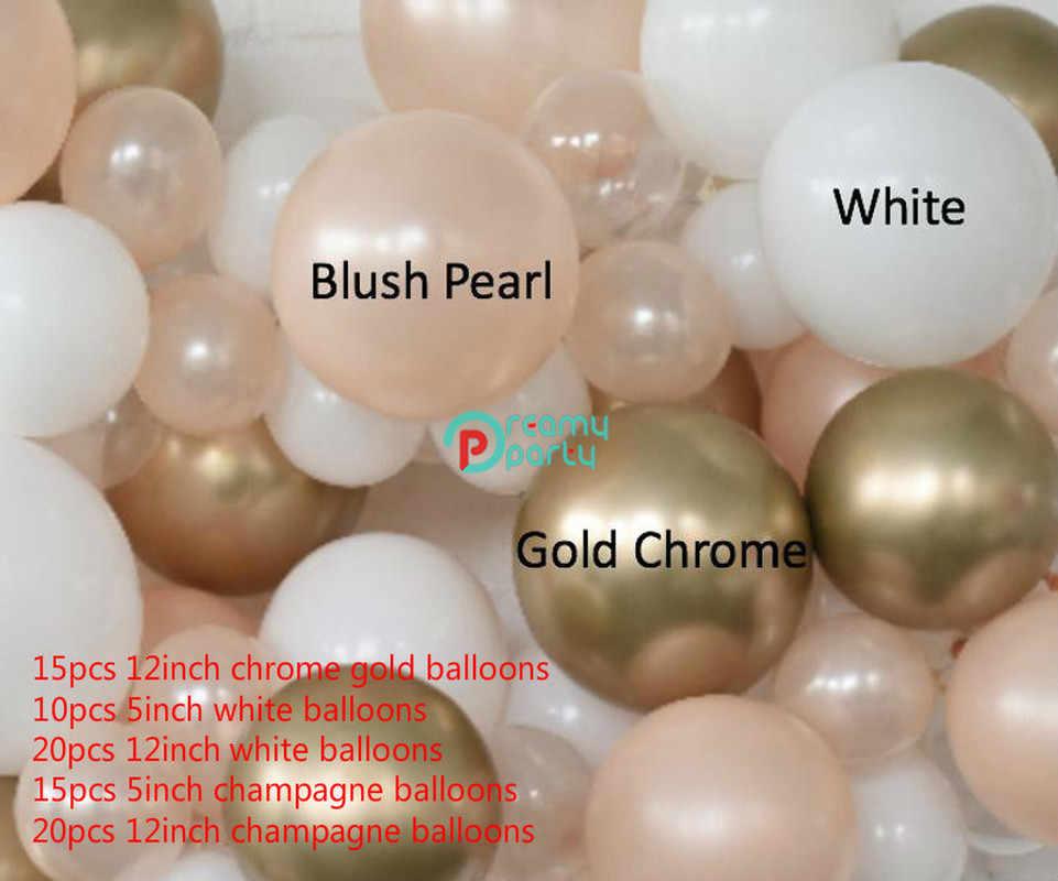80 قطعة/المجموعة بالون الطوق كيت الوردي استحى الذهب طوق من البالونات استحى الوردي الزفاف استحى الوردي و الذهب الزفاف دش بالون ديكور