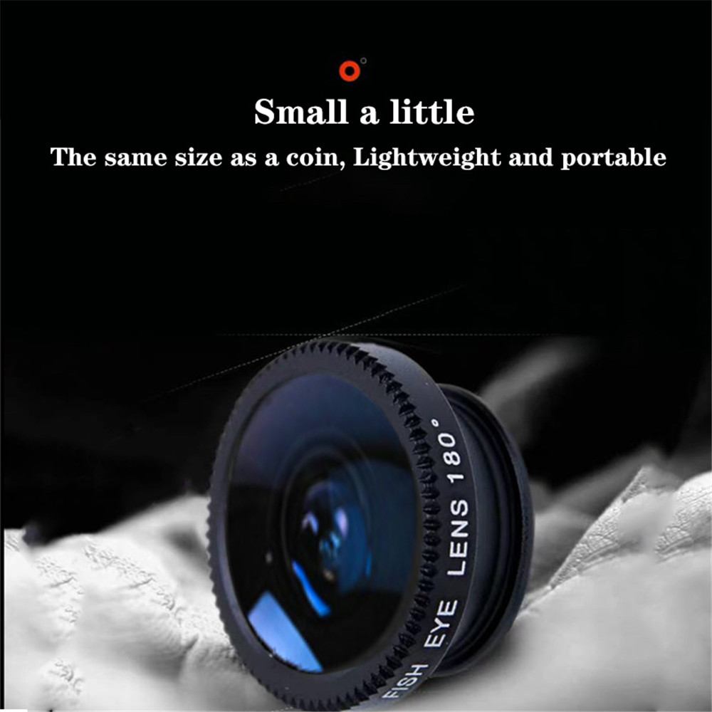 Fisheye Phone Camera  Wide Angle Zoom Lens With Clip lens on Phone for Smartphone 3