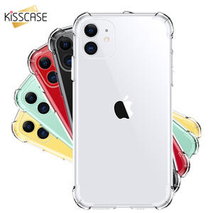 KISSCASE Transparent Phone Case For iPhone XR X XS MAX 7 8 6 6S Plus Soft Silicone Case For iPhone 11 Pro Max 5 5S SE Back Cover