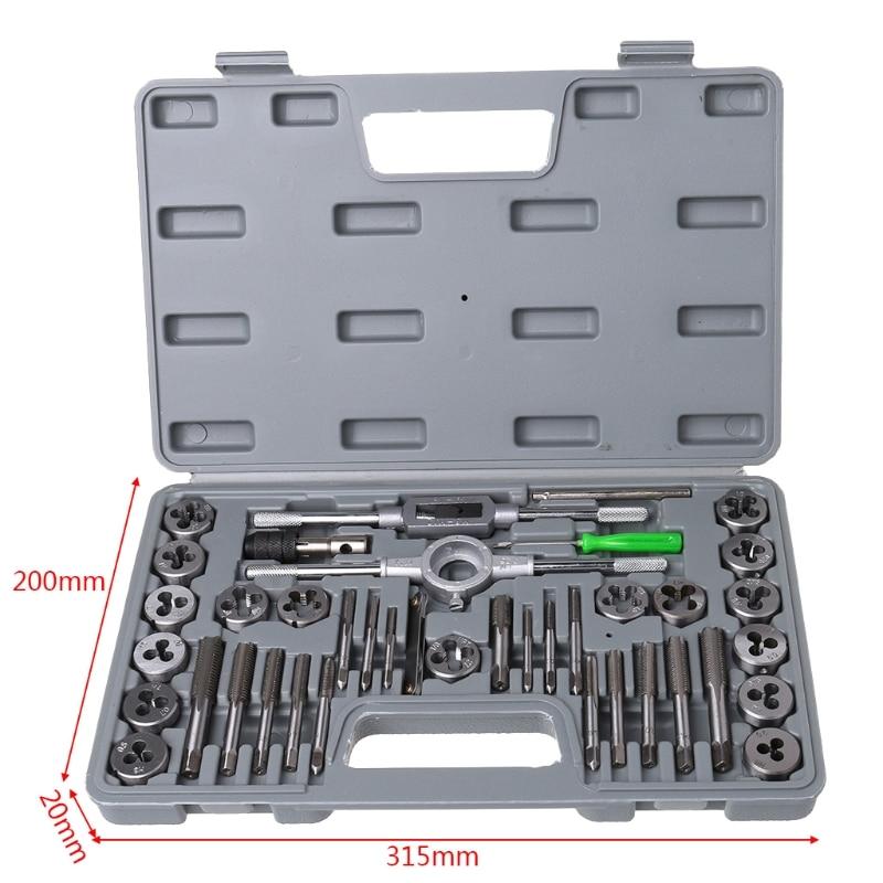 Купить с кэшбэком 40 Pcs Metric Tap Die Set Hand Threading Tool Tungsten Carbide Screw Thread Bit