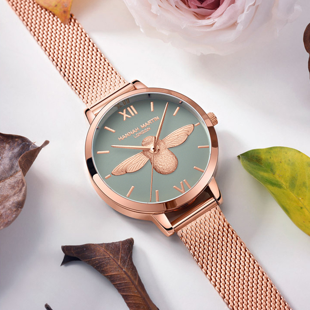 Women Watches Mesh Stainless Steel 3D design dial Japan Quartz Movement Top Brand Female Waterproof Wristwatch Clock Relogio 5