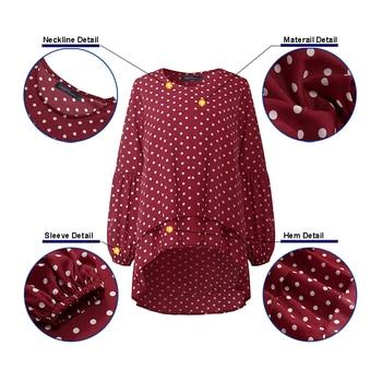 Lantern Sleeve Layered Shirts Women Asymmetrical Blouse 2019 ZANZEA Fashion Tops Female Casual Blusas Femininas Plus Size Shirts 5