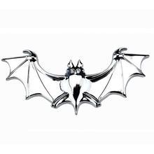 سيارة ملصقا 3D المعادن الخفافيش ملصقا السيارات الخفافيش شارات لوجو الذيل صائق سيارة الديكور اكسسوارات سيارات