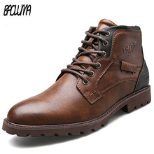 Classic Brand Men's Boots Italy Handmade Men Ankle Boots Outdoor Waterproof Male