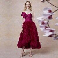 Adyce 2019 New Strapless Lace Bodycon Celebrity Evening Party Dress Women Elegant Wine Red Ruffles Floral Club Dress Vestidos