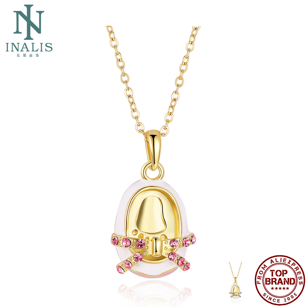 INALIS Imitation Gold Plated Pendant Necklace For Women Fashion Ideas Romantic Necklace Anniversary Fine Jewelry Trend Hot Sale
