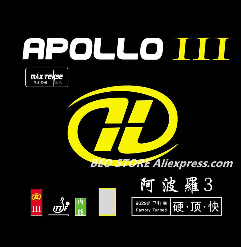 YINHE APOLLO III Forehand Sticky Quick Attack Loop Speed Factory Tunned Pips-in Table Tennis Rubber Ping Pong Sponge