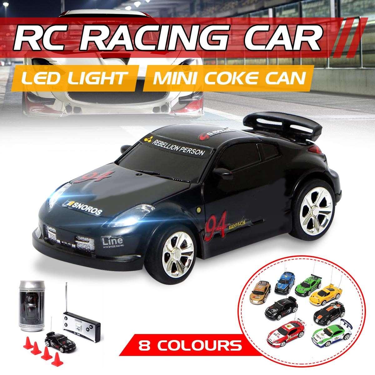 Mini Control remoto de Radio de vehículo coca del deporte del coche de R/C RC Racer carreras Micro juguetes Porket 4 Frecuencia de regalos para los niños