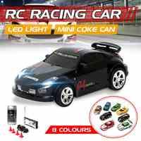Mini rádio controle remoto veículo coque pode carro esporte r/c racer rc micro corrida brinquedos porket pequeno 4 presentes de freqüência para crianças