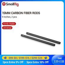 SmallRig 15mm Carbon Faser Stangen (9 zoll) für 15mm Rod Schienen Unterstützung System/LCD Montieren/Schulter Pad/Objektiv Unterstützung 1690