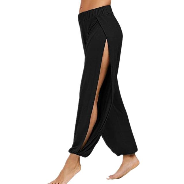 Merry Pretty Summer High Slit Haren Pants Women Solid Hippie Harem Wide Leg Pants Trousers S-3XL 5