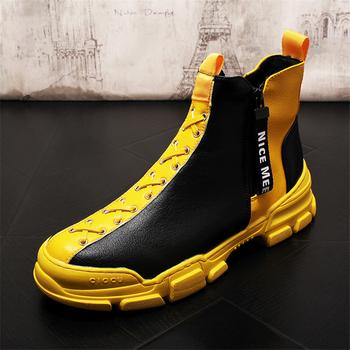 Mężczyźni buty w stylu casual skórzane buty męskie buty modne trampki męskie buty moda skórzane buty oryginalne skórzane buty męskie męskie mokasyny tanie i dobre opinie Ktip up Gumowe Dla dorosłych Mieszane kolory Wiosna jesień Skóra bydlęca Mesh Masaż Prawdziwej skóry Przypadkowi buty