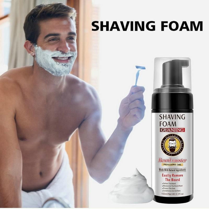 GUANJING 150ML Men's Shaving Cream Beard Cleaning Care Refreshing Skin Care Shaving Bubbles Moisturize Beard Root Protect Skin