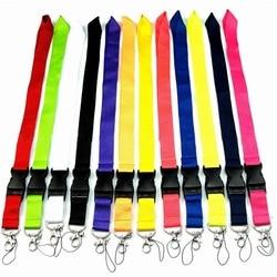 Plaine vierge colorée pour les clés téléphone cou sangle suspendus corde porte-Badge porte-clés lanière corde