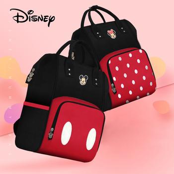 Disney Mickey Diaper Bags Baby Storage Bag Large Capacity Mummy Bag Handbag 2020 New Mom Care Bag Baby Diaper Bags Wet Bag tanie i dobre opinie Plecak CN (pochodzenie) Poliester zipper (30 cm Max Długość 50 cm) 22cm Torby na pieluchy 30cm 0 6kg 40cm Drukuj