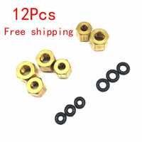 12 Uds. Pequeño/grande tuerca de cobre O anillo Sscrew 2*3mm y 4*3mm para Epson UV amortiguador 1390 DX7 DX4 DX5 tubo de tinta