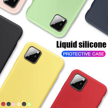 Thin Soft Case For iPhone SE 2020 7 8 6 6s Plus Liquid Silicone Back Cover Candy Coque Capa For iPhone X Xs 11 Pro Max XR
