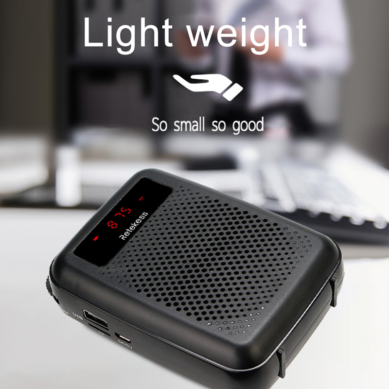 cheapest RETEKESS PR16R Megaphone Portable 12W FM Recording Voice Amplifier Teacher Microphone Speaker With Mp3 Player FM Radio Recorder