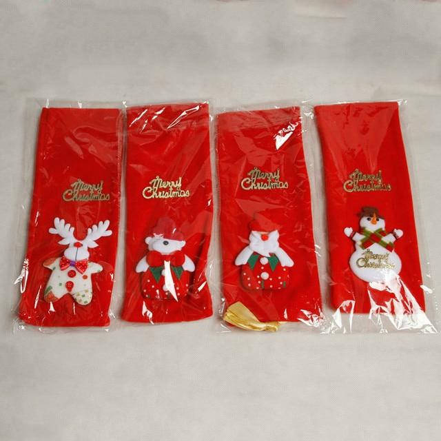 Décoration de noël pour la maison Table paillettes porte-sac à vin rouge vin Champagne bouteille housse de couverture sacs de cadeau de noël décors de noël