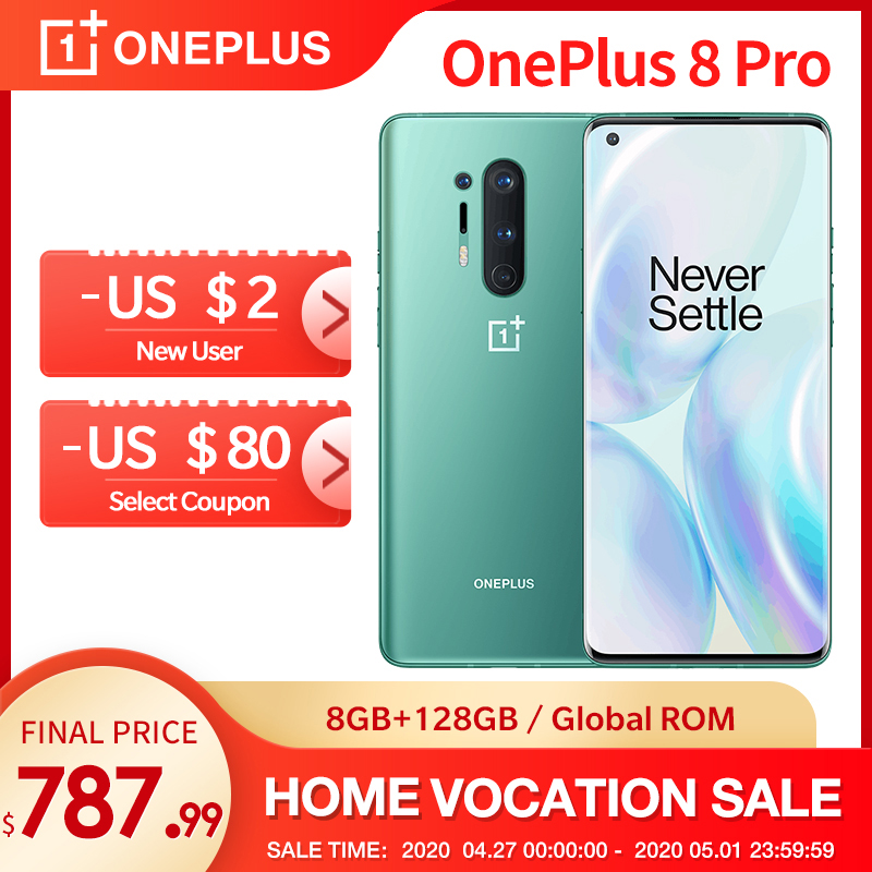 In Lager OnePlus 8 Pro 5G Globale Rom 8GB 128GB Smartphone Snapdragon 865 120Hz Display 6.78