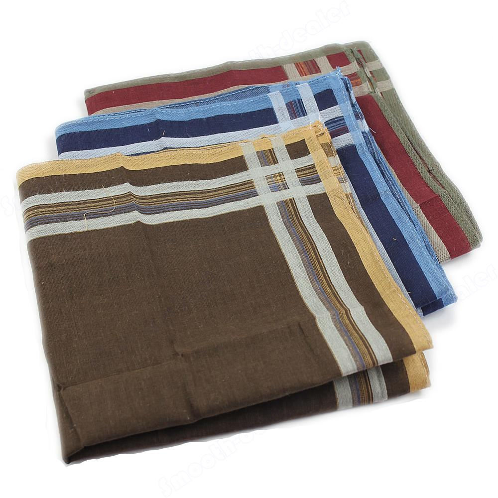 Hot High Quality Classic Soft Comfort Plaid Handkerchief New