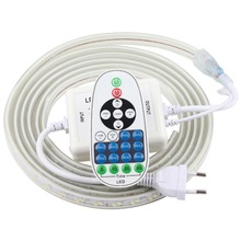 หรี่แสงได้รีโมทคอนโทรล LED Strip 220 V 220 V กันน้ำไฟ LED Strip 120 LEDs/M 5730 ริบบิ้น ledstrip แถบเทปโคมไฟ IL