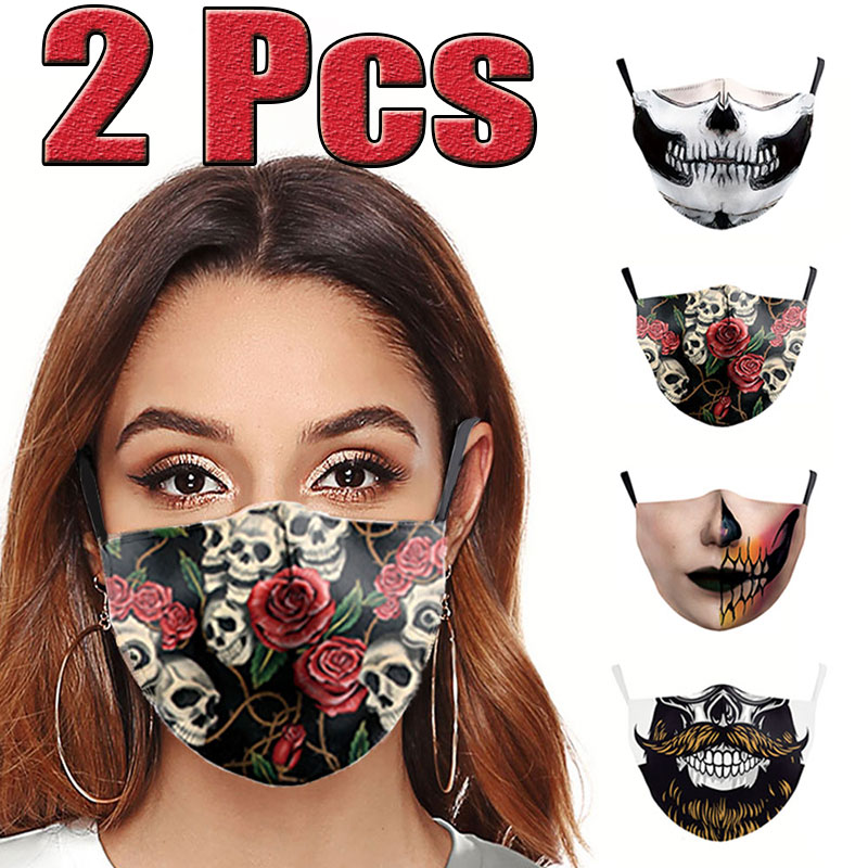 2Pcs New Unisex Anti-Infection Virus Face Mouth Masks Cover Reusable Protection Dust Breath Proof Bacteria Mask Washable Masks