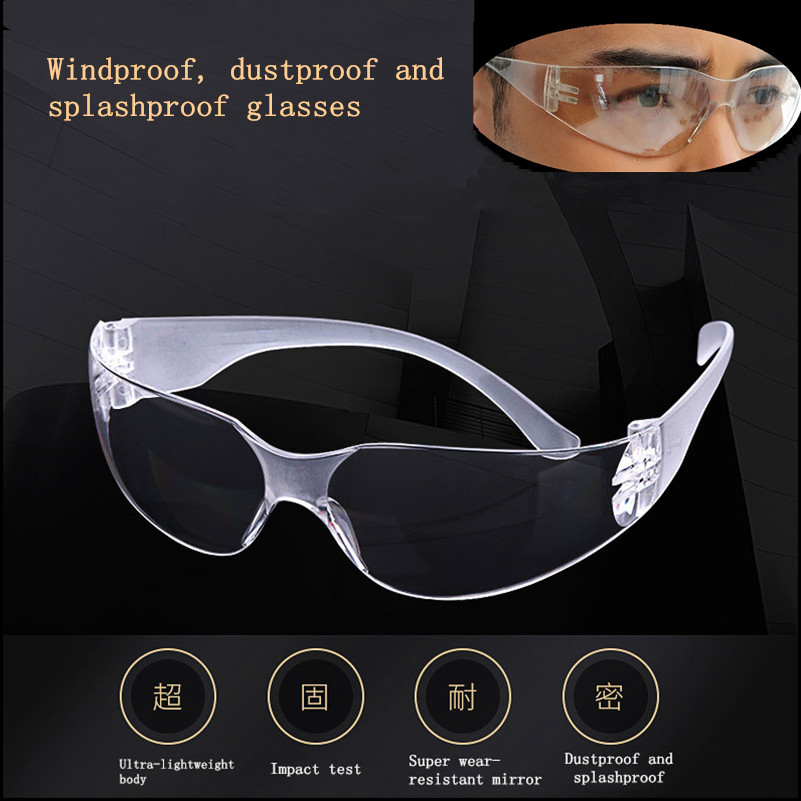 New Vented Safety Goggles Glasses Eye Protection Dust-proof Wind-proof Protective Lab Anti Fog Glasses New Arrivals
