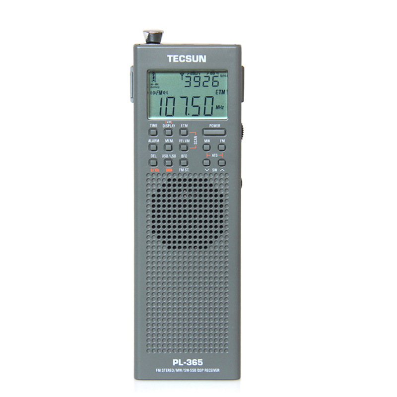 Original TECSUN PL-365 Mini Portable DSP ETM ATS FM-Stereo MW SW World Band Stereo Radio PL365 Gray color I3-002