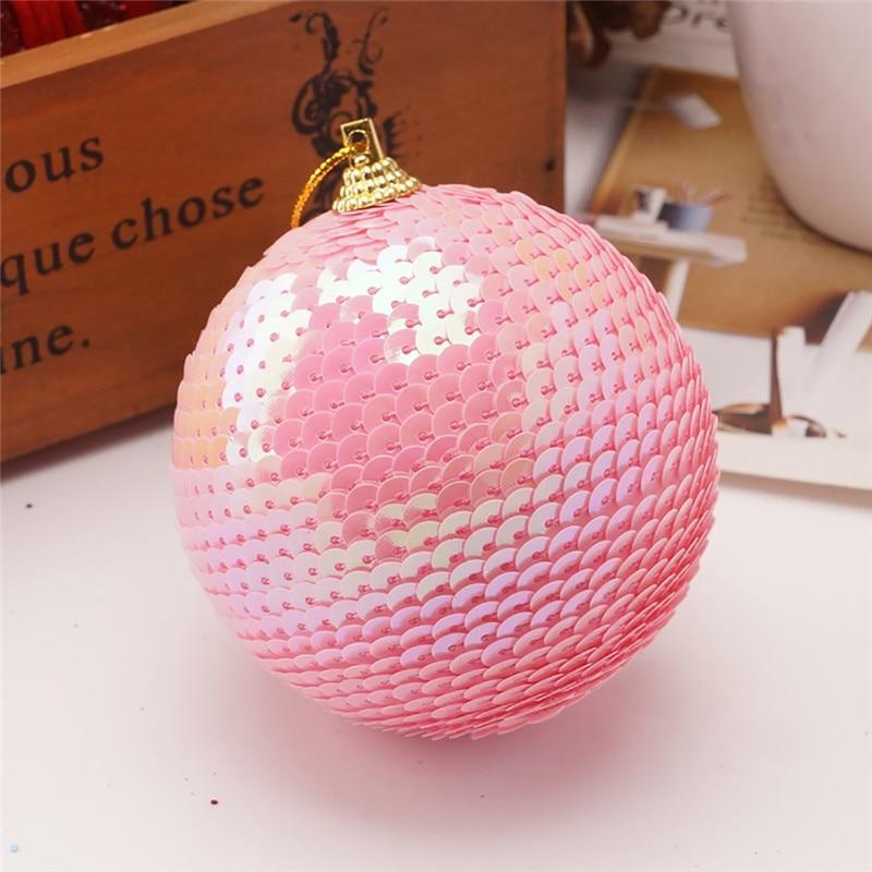 Christmas Rhinestone Glitter Baubles Ball Xmas Tree Ornament Decoration 8CM kerstballen bombki choinkowe #3O11 (2)
