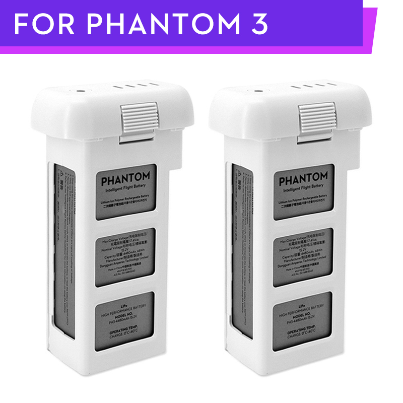 100% DJI Phantom 3 Battery 2pcs 4500mAh To 23mins For DJI Phantom 3Advanced/Professional/Standard/4k SE Series Drone
