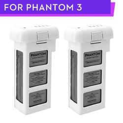 100% DJI Phantom 3 Battery 2pcs 4500mAh to 23mins for DJI Phantom 3Advanced/Professional/Standard/4k SE series Drone
