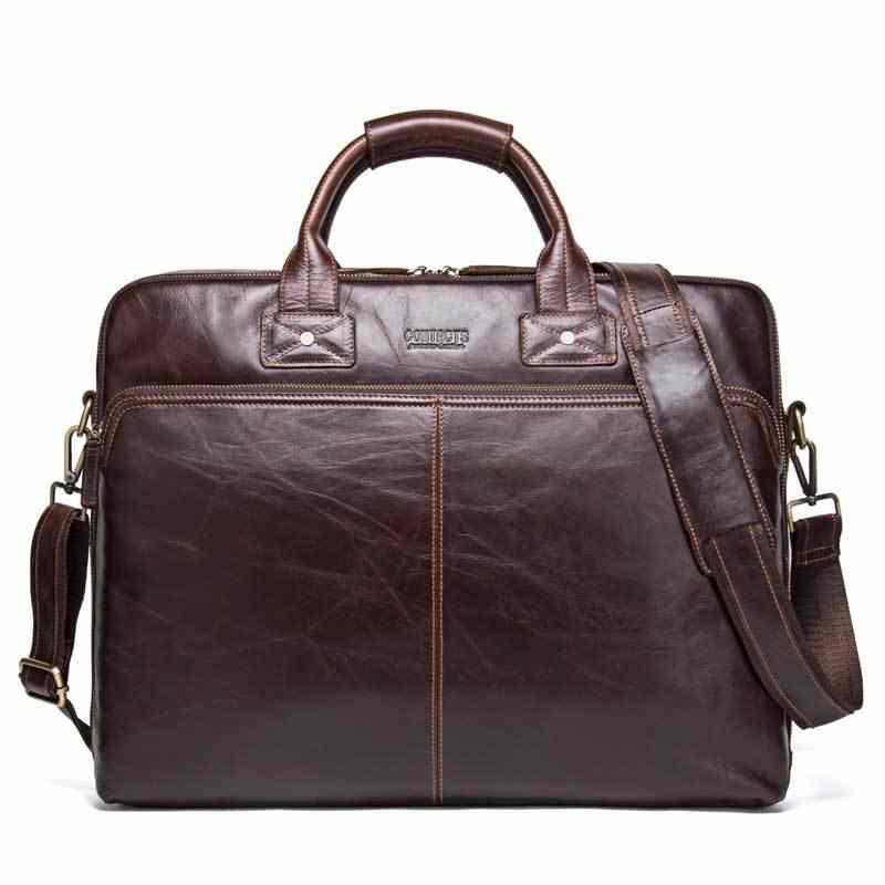 Leather Men's Business Briefcase Casual Men's Handbag Fashion Cross Body Shoulder Bag