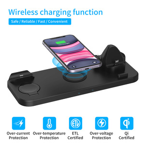 Image 2 - 6 In 1 15W Wireless Charger Pad Qi Induction Fast Charging Holder for Apple Watch 5 4 3 2 1 For Airpods Pro IPhone 11 XS XR X 8
