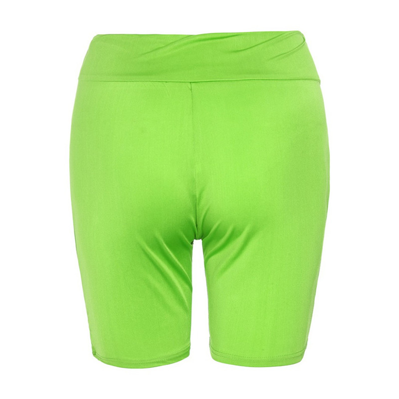 2020 New Women`s Cycling Shorts Stretch Plain Biker shorts Casual Sports Fitness Ladies Elastic Waist Leggings Slim Shorts (11)