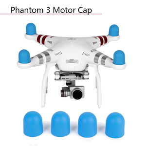 Image 1 - 4pcs Engine Dust proof Drone Motor Cap Protective Cover for DJI Phantom 2 Pro 4A 3A 3P 3S SE 4 Silicone Case Guard Accessories