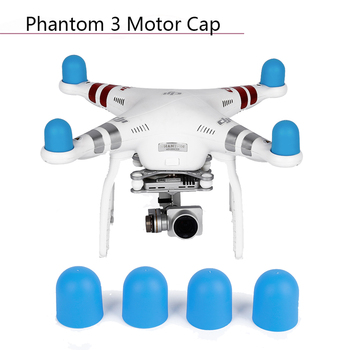 4pcs Engine Dust-proof Drone Motor Cap Protective Cover for DJI Phantom 2 Pro 4A 3A 3P 3S SE 4 Silicone Case Guard Accessories image