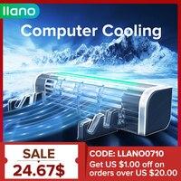 LLANO Basis Notebook Stand Cooling Rad Geschwindigkeit Einstellbar Notebook Kühler Schreibtisch Fan Laptop Kühler Stehen Computer Tablet Telefon halter