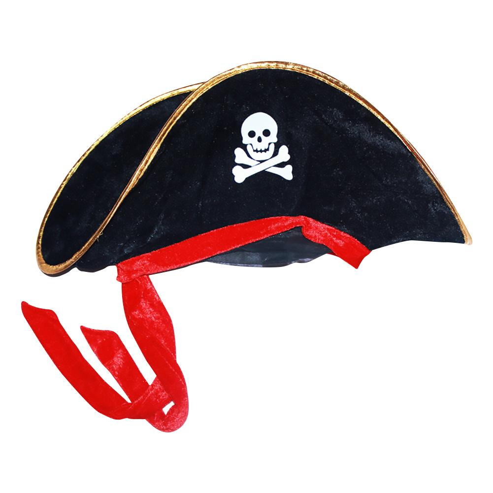 New Halloween Accessories 2019 Skull Hat Caribbean Pirate Hat Piracy Hats Corsair Cap Party Props Cosplay Costume Toy Theater
