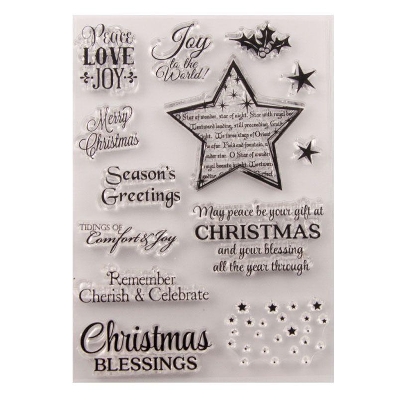 Noël étoile Silicone clair sceau timbre bricolage Scrapbooking gaufrage Album Photo décoratif papier carte artisanat Art fait main cadeau