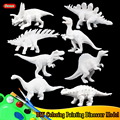 Oenux DIY Раскрашивание 3D живопись динозавр Юрского периода Рисование акварель граффити фигурки героев модели животных детская игрушка подаро...
