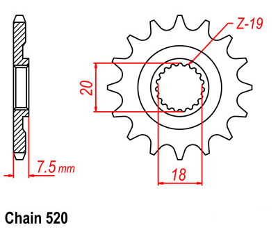 Motorcycle Front Sprocket 520 12T 13T For HONDA CR125 RV 97 CR125 RY 01-02 CR125 RH 87-94 CR125 R-1 R-2 R-3