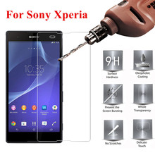 Tempered Glass For Sony Xperia L36H Z Z1 Z2 Z3 Z4 Z5 premium Screen Protector Glass Film on Sony C3 C4 E5 M2 T3 Protective Glass nillkin tempered glass back cover protector film for sony xperia z2 l50 h