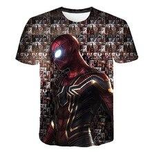 Spiderman Captain America Summer kid Short Sleeve Tshirts for Children Girl Boys T Shirt Tops Funny Cool Design Pattern Clothing